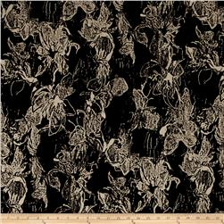Koshibo Abstract Floral Print Black/Bone