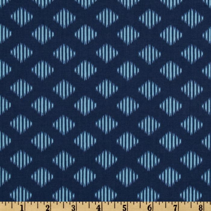 Maasai Mara Diamond Ikat Blue