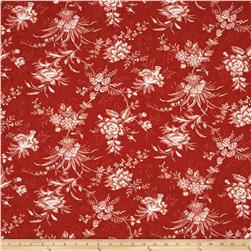 Moda Snowberry Floral Toile Berry