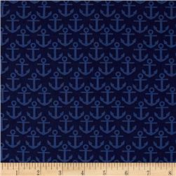 Nautical Treasure Anchors Light Navy