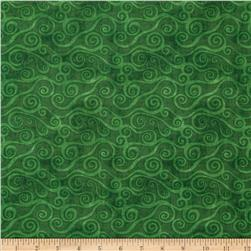 Essentials Swirly Scroll Dark Green