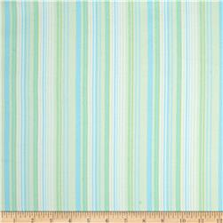Kanvas Bunny Hop Flannel Soft Stripe Mint