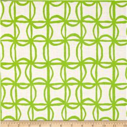 Kanvas Lili-fied Pinwheel White/Green Fabric
