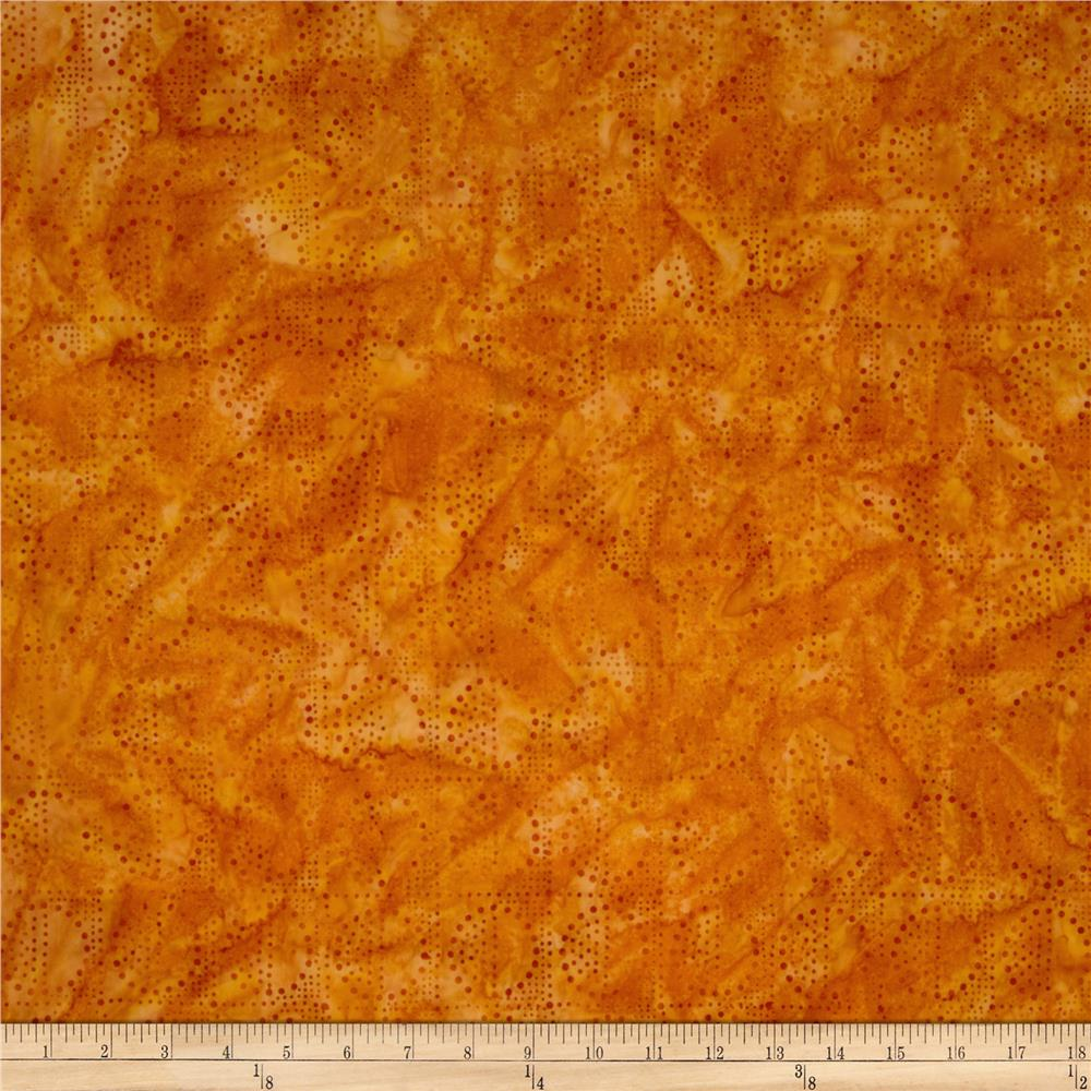 Artisan Batiks Elementals Geos Bubble Squares Orange