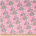 Little Safari Flannel Animals Pink