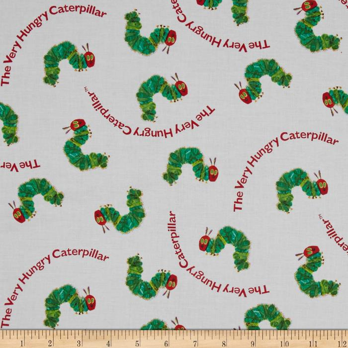The Very Hungry Caterpillar Text White