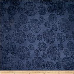 Minky Cuddle Majestic Embossed Mirage Navy
