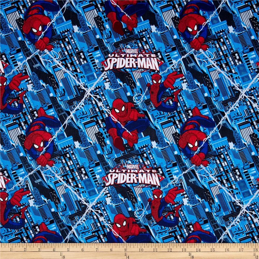 Marvel Ultimate Spiderman Saving the City Blue