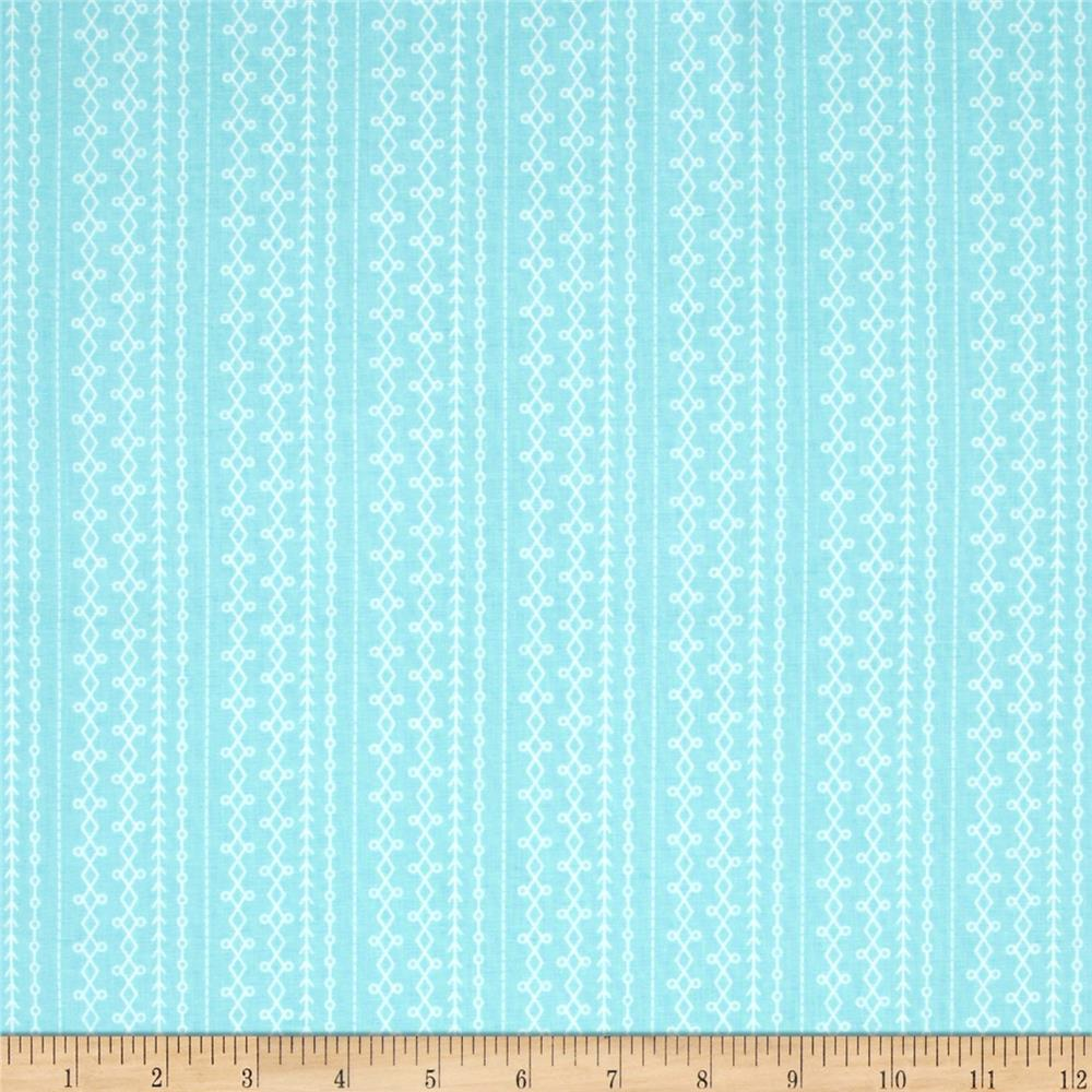 Riley Blake Floriography Stripes Blue