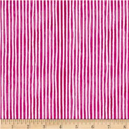 Hot Dogs & Cool Cats Organic Stripe Fuchsia