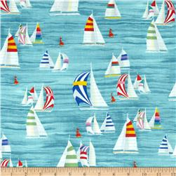 Moda Coastal Breeze Regatta Aqua