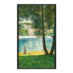 "Kaufman Seurat Tree Lake 24"" Panel Nature"
