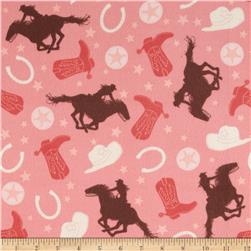 Riley Blake Rodeo Rider Flannel Rodeo Main Pink