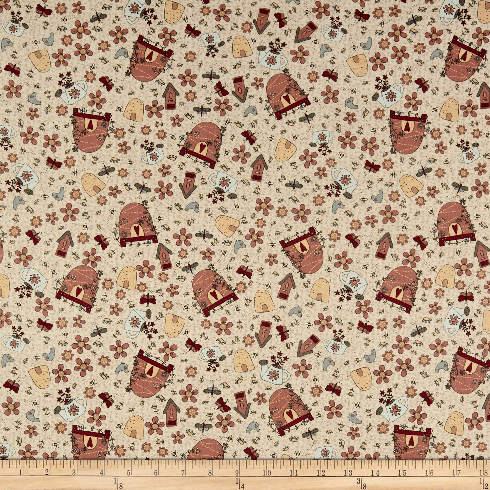 INOpets.com Anything for Pets Parents & Their Pets Lecien Sweet Garden Of Mine Garden Toss Natural Fabric