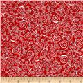 Kick Heart Disease Scroll Red