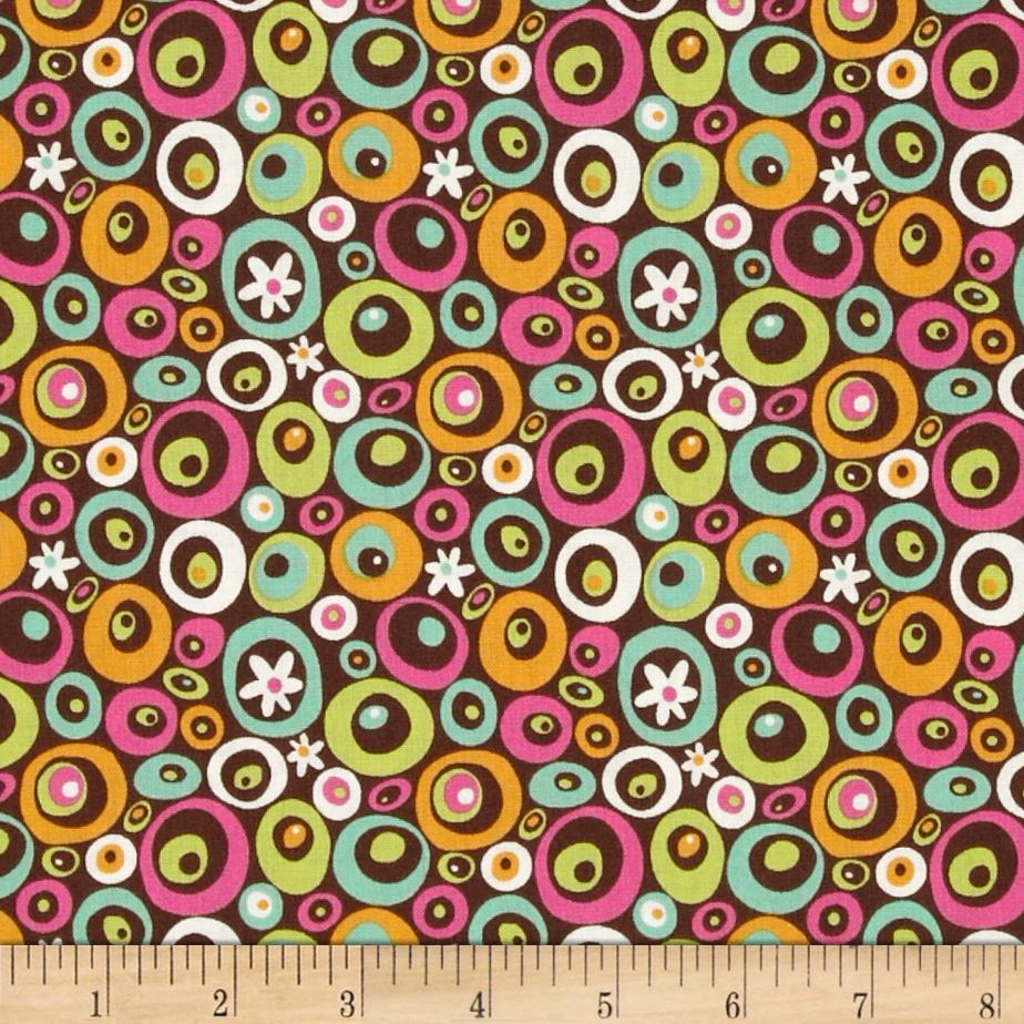 Lily Circle Geometric Brown