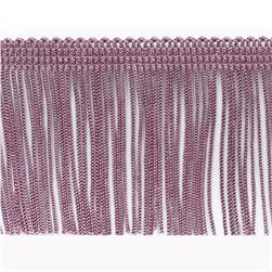 4'' Chainette Fringe Trim Plum