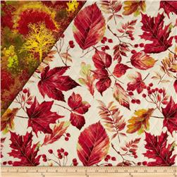 Autumn in the Forest Double Sided Quilted Metallic Multi