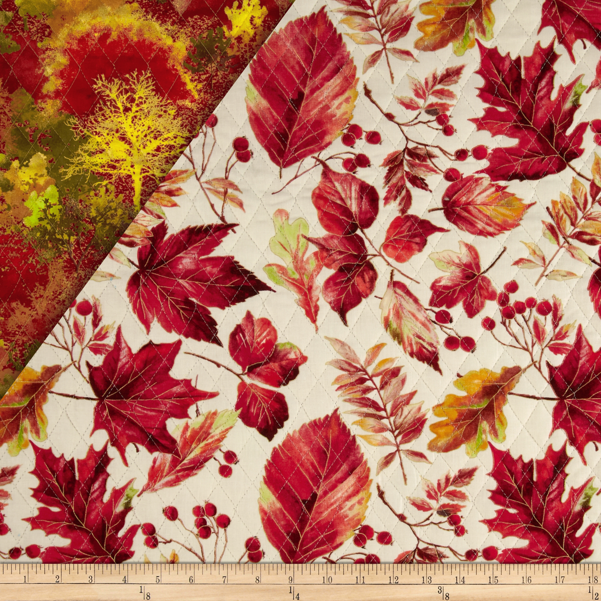 Autumn in the Forest Double Sided Quilted Metallic