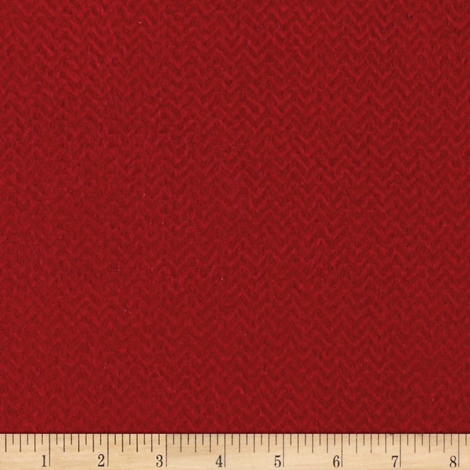 Color Catchers Yarn-Dye Flannel Chevron Red