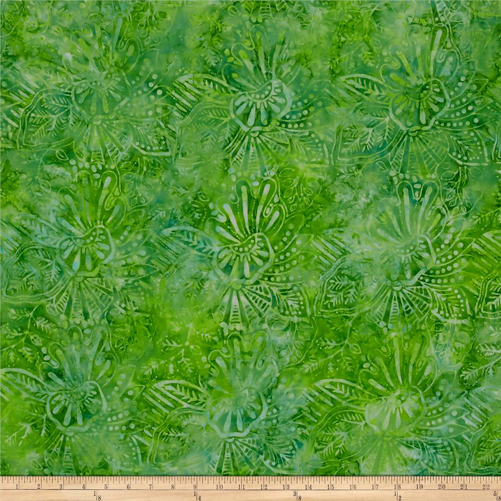 Wilmington Batiks Large Floral Green