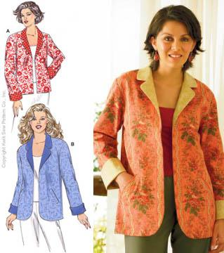 Kwik Sew Reversable Cuffed Jackets Pattern