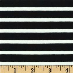 St. James Stripe Double Knit Ecru/Black