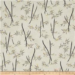 Zen Garden Metallic Bamboo Trees Cream/Gold