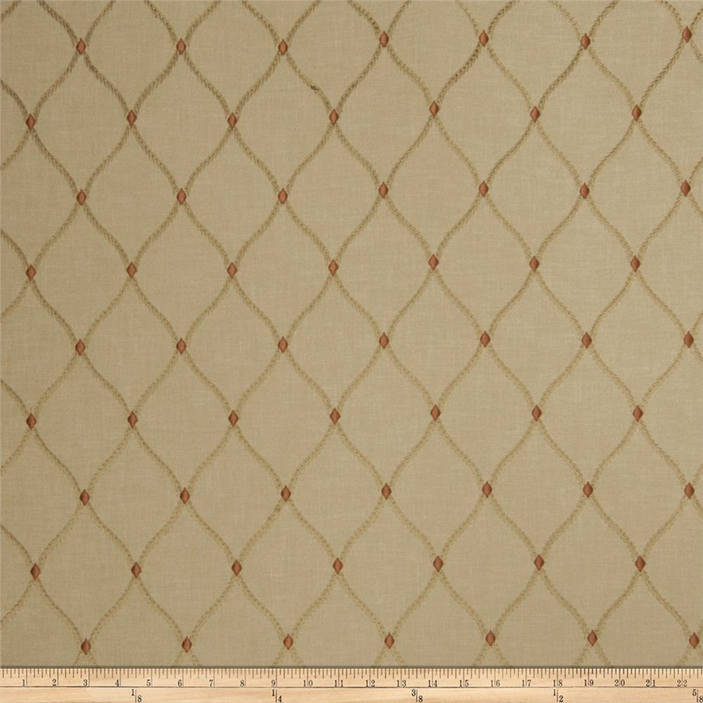 Fabricut de jour embroidered faux linen hearth discount for Fabric purchase