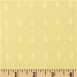 Stretch Jacquard Sateen Retro Orbs Yellow