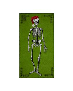 Mr. Chillingsworth Christmas Skeleton 24 In. Panel Green