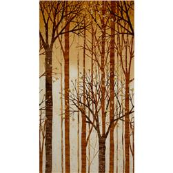 Robert Kaufman Sound of the Woods Metallic Large Tree Earth