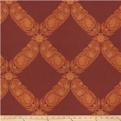 Keller Williams Floral Lattice Jacquard Garnet