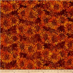 Island Batik Sunflower Light Brown/Dark Brown