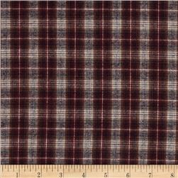 Yarn Dyed Flannel Medium Plaid Red/Black