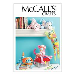 McCall's Stuffed Animals Pattern M6485 Size OSZ