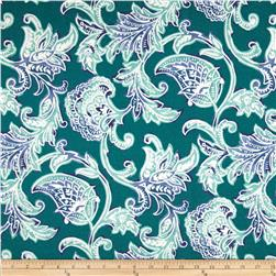Richloom Solar Indoor/Outdoor Lahaye Paisley Teal