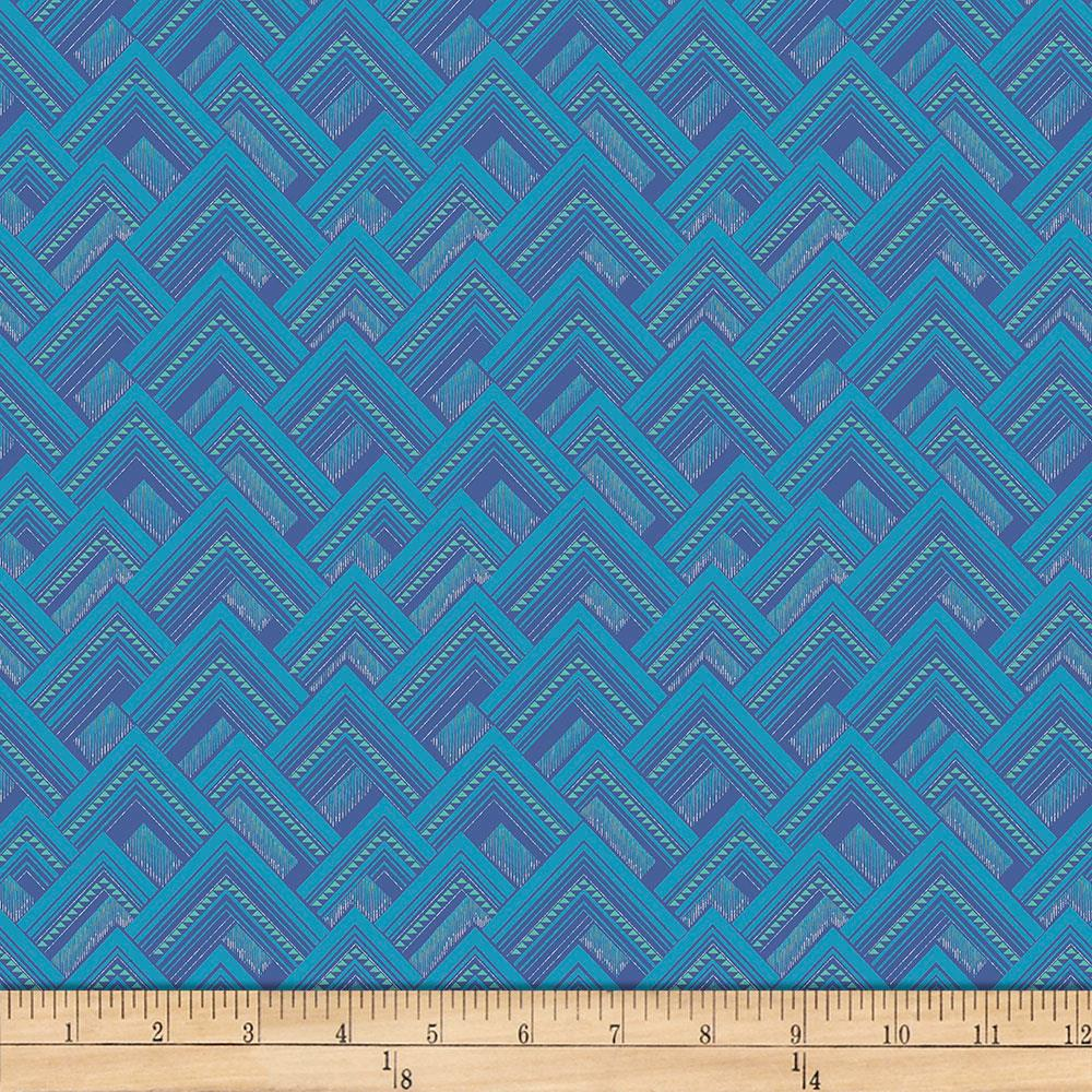 Amy Butler Splendor Mighty Corners Aquamarine