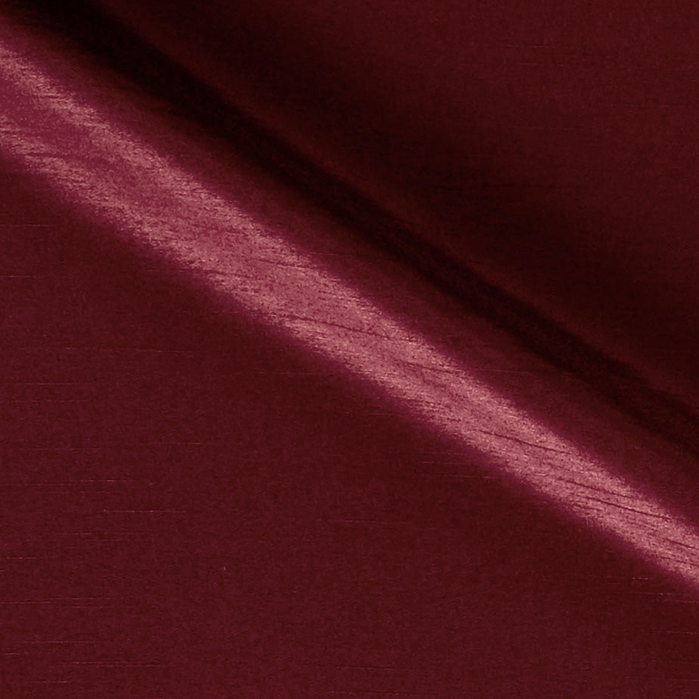 60'' Shantung Faux Silk Bordeaux