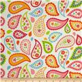 Riley Blake Flannel My Sunshine Paisley Cream