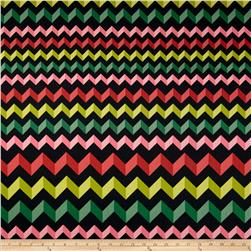 Crinkle Stripe Black/Pink/Green
