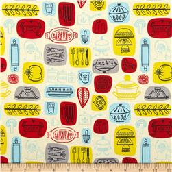 What's Cooking Kitchen Cream Fabric