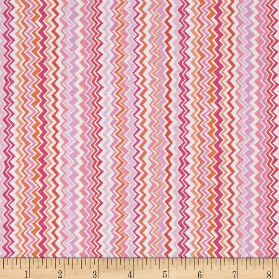 Kanvas Spring Parade Zippy Stripe Pink Orange