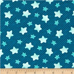 Puffy Teddy Stars Blue