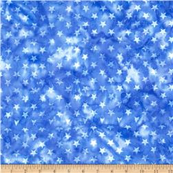 Island Batik Quilted in Honor Batik Stars Royal