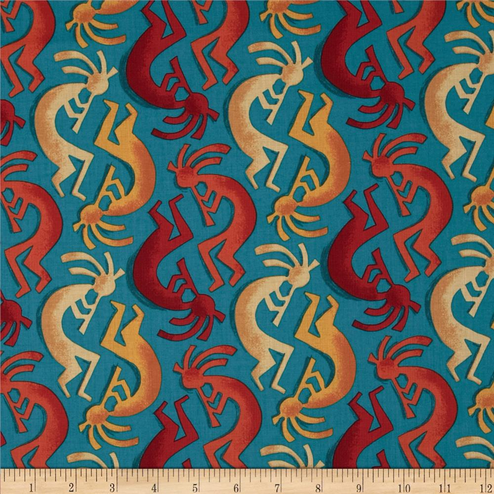 Michael Miller Painted Desert Kokopelli Stripe Teal