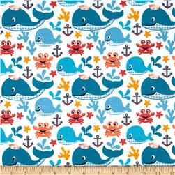 Whale's Adventures Sea Buddies White/Blue