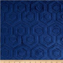 Premier Prints Embossed Geo Cuddle Midnight Fabric