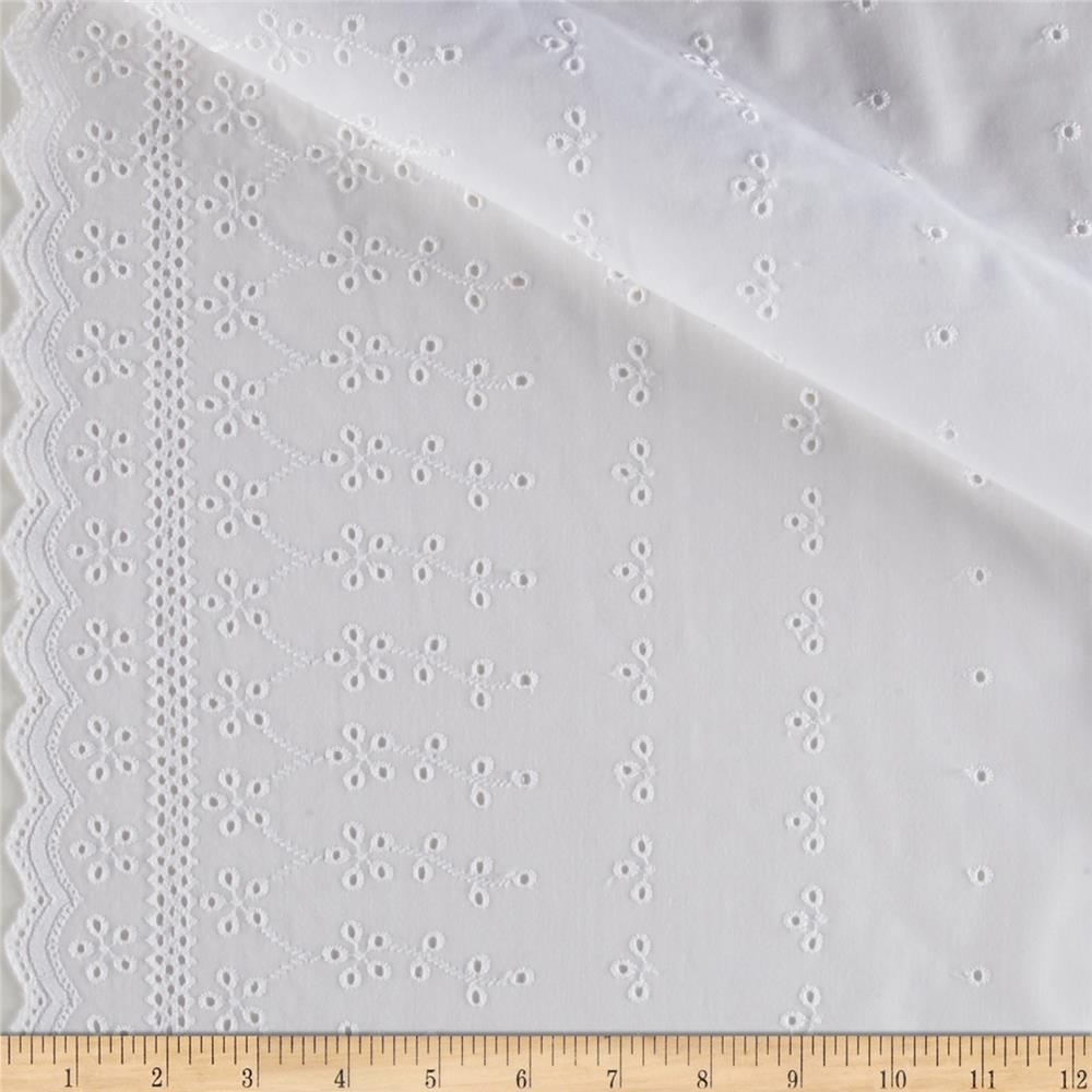 Imperial Eyelet Flounce 6'' Traditional Border White