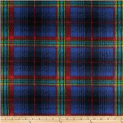 Fleece Print Bright Plaid Royal